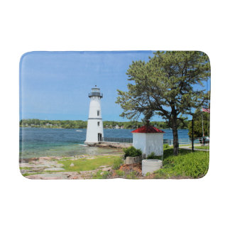Rock Island Lighthouse, New York Bath Mat