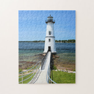 Rock Island Lighthouse, New York Jigsaw Puzzle
