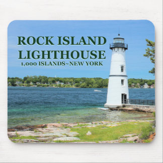 Rock Island Lighthouse, New York Mousepad