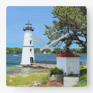 Rock Island Lighthouse, New York Wall Clock