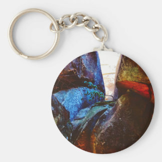 ROck Life Basic Round Button Keychain