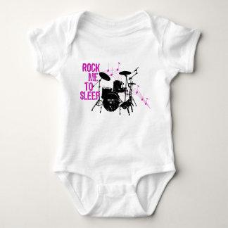 Rock Me To Sleep Drums Baby Bodysuit