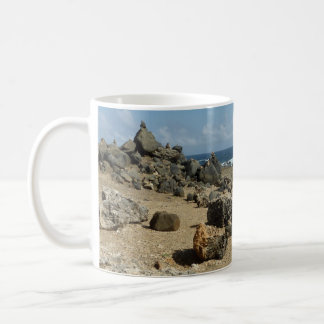 Rock Monuments on Aruban Coast Coffee Mug