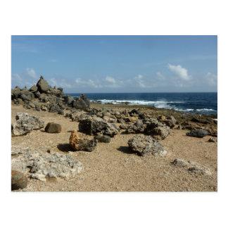 Rock Monuments on Aruban Coast Postcard