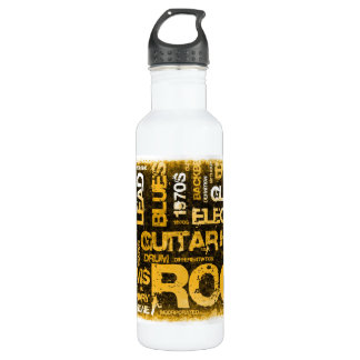 Rock Music Party Invitation as Poster Art 710 Ml Water Bottle