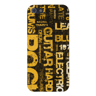 Rock Music Party Invitation as Poster Art Case For iPhone 5/5S