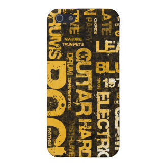 Rock Music Party Invitation as Poster Art iPhone 5 Cases
