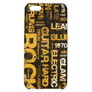 Rock Music Party Invitation as Poster Art iPhone 5C Cases