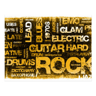 Rock Music Party Invitation as Poster Art Postcard