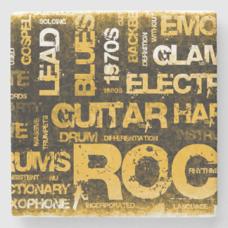 Rock Music Party Invitation as Poster Art Stone Coaster