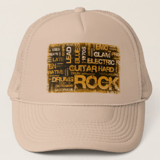 Rock Music Party Invitation as Poster Art Trucker Hat