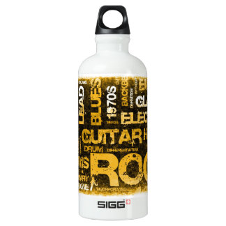 Rock Music Party Invitation as Poster Art Water Bottle