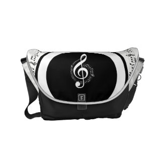 Rock My World | Guitar/Musical Notes Messenger Bag