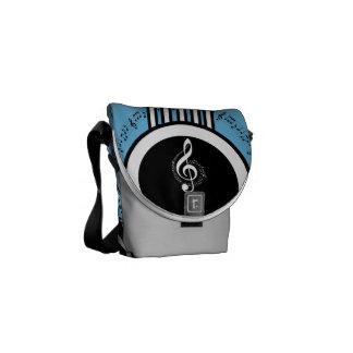 Rock My World | Guitar/Musical Notes Messenger Bags