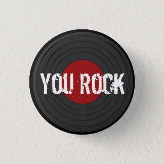 Rock N Roll 1 Inch Round Button