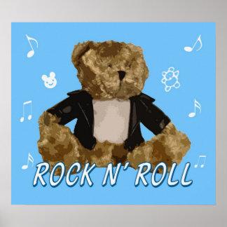 ROCK N' ROLL BEAR POSTER
