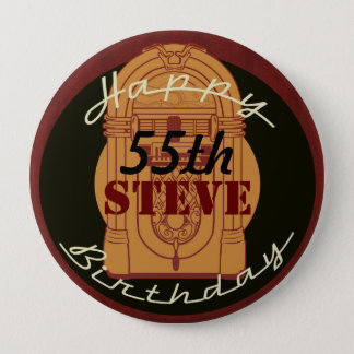 Rock n' roll birthday button