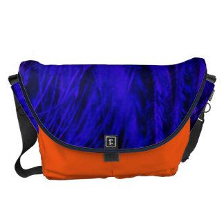 Rock n' Roll Blue & Orange Beast Large Messenger Courier Bag