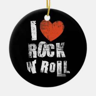 Rock N' Roll Ceramic Ornament