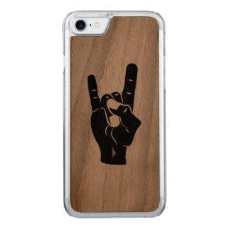 Rock n Roll Devil Horns Carved iPhone 8/7 Case