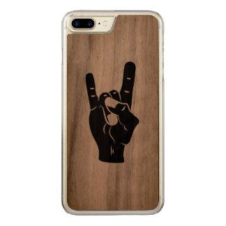 Rock n Roll Devil Horns Carved iPhone 8 Plus/7 Plus Case