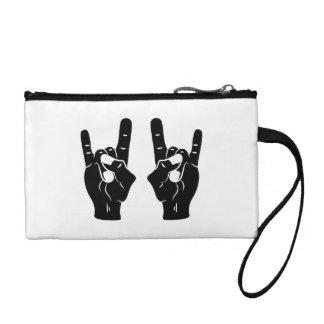 Rock n Roll Devil Horns Coin Wallets