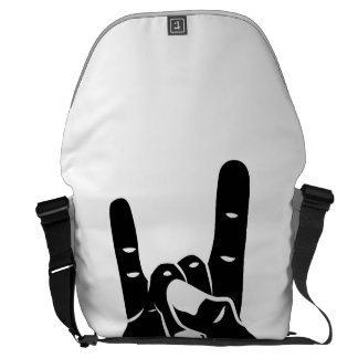 Rock n Roll Devil Horns Courier Bags