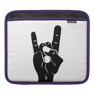 Rock n Roll Devil Horns iPad Sleeves