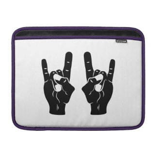 Rock n Roll Devil Horns MacBook Air Sleeve