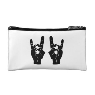 Rock n Roll Devil Horns Makeup Bags