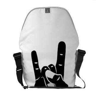 Rock n Roll Devil Horns Messenger Bags