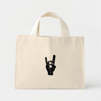 Rock n Roll Devil Horns Mini Tote Bag