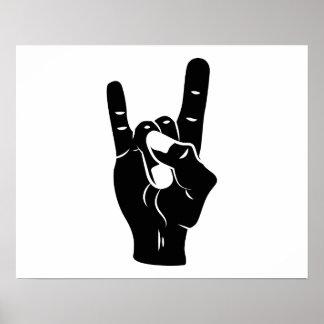 Rock n Roll Devil Horns Poster