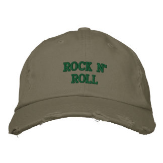 ROCK N' ROLL EMBROIDERED BASEBALL CAPS