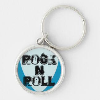 Rock n Roll Guitar Pick Keychains