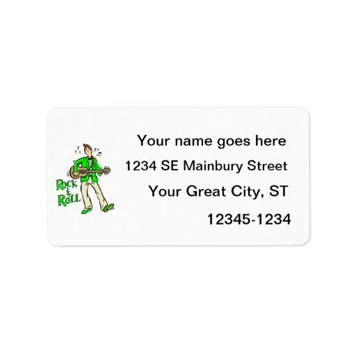 rock n roll guy playing guitar green.png address label