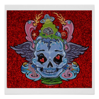 'Rock n' Roll Lobotomy' art print- (pop surreal) Poster