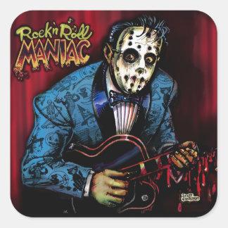 Rock n Roll Maniac Rockabilly Square Sticker