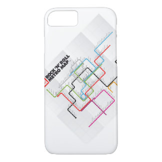 Rock 'n Roll Metro Map (History of Rock Music) iPhone 7 Case