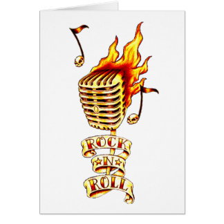 Rock N' Roll Microphone Card