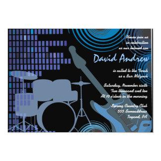 Rock n Roll Musical Bar Bat Mitzvah Invitation