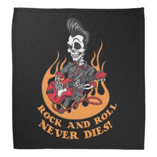 Rock N Roll Never Dies Biker Dew Rag Bandana