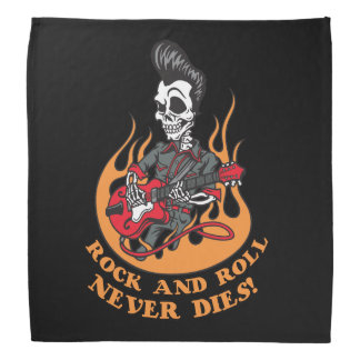 Rock N Roll Never Dies Biker Dew Rag Kerchiefs