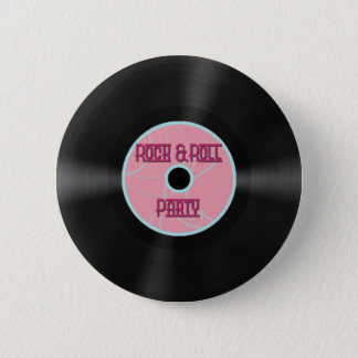Rock n' Roll Party Button
