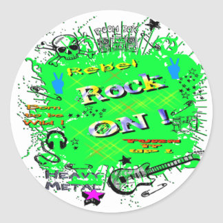 Rock n' Roll Rebel T-Shirts & Gifts Round Sticker