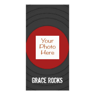 Rock N Roll Record with Photo Card