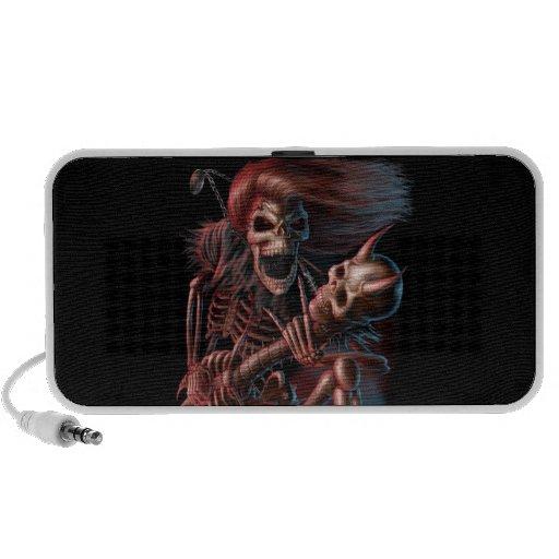Rock N Roll Skull Travel Speaker