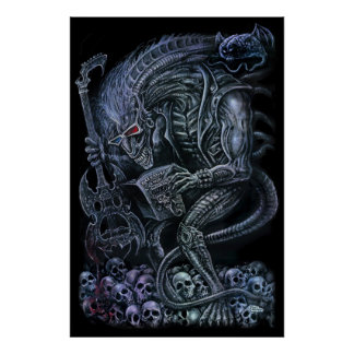 Rock 'n' Roll Space Monster Poster
