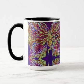 Rock N'Roll Butterfly Patterned Art Mug