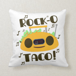 Rock-O Musical Taco Throw Pillow